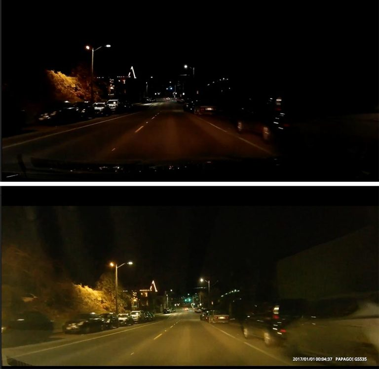 Black-Box-vs-Papago-Night-Comparison-for-Dash-Cam