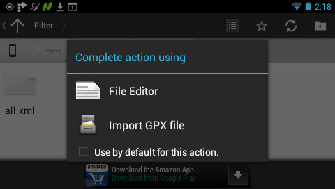 Opening downloaded gpx files